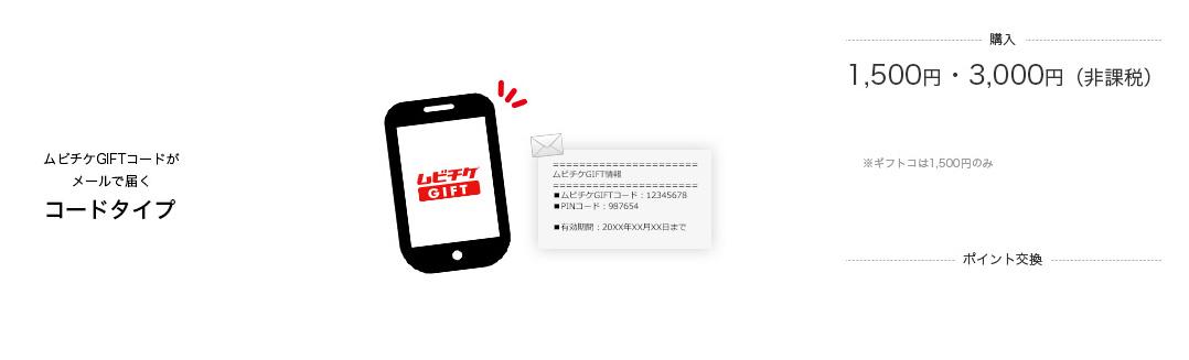 ムビチケGIFTコードがメールで届く【コードタイプ】