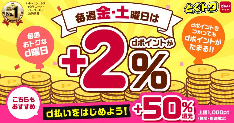 d曜日・50%還元キャンペーン